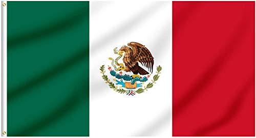 Ericraft Bandera Mexicana Grande 90x150cms Bandera Mexico de balcón para Exterior Reforzada...