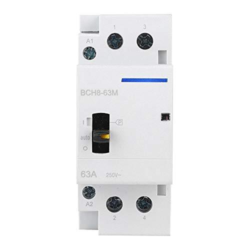 Zerone Contactor de CA para el hogar, BCH8-63M 2P 63A 230V Contactor...