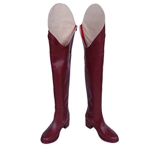 YKJ Anime Cosplay Scarpe da Donna sopra Il Ginocchio Scarpe Stivali di Spessore con Boots Masquerade...