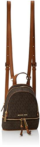 Michael Kors Rhea Zip - Borse a secchiello Donna, Brown, 7x20x18 cm (W x H L)