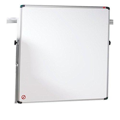 Nobo pro-rail droog afwasbaar whiteboard magnetisch 1200 mm aluminium rand 1200 mm wit