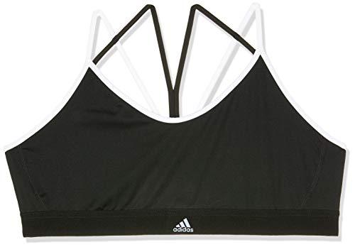 adidas Damen Sport BH mit Leichter Unterstützung All Me Strappy, Black/White, XL, DH3641