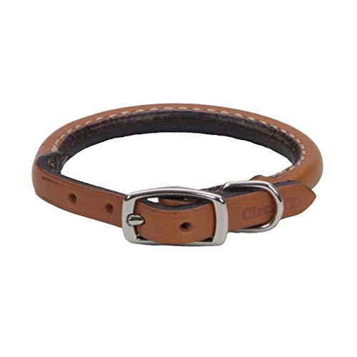 Coastal Pet Rolled Oak Tan Leather Collar