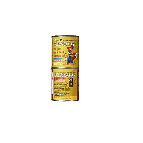 PC Products PC-Woody Wood Repair Epoxy Paste, Two-Part 48oz in Two Cans, Tan 643334