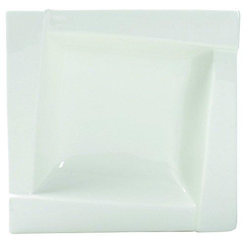 Dajar kubiko Assiettes Creuses 20 cm Ambition, Porcelaine, Blanc, 20 x 20 x 5,2 cm
