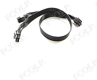 FCQLR para Corsair HX650 HX750 HX850 HX1050 Power Dual 8pin Graphics Module Cable 0.6m