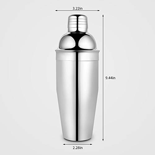 Winco Stainless Steel 3-Piece Cocktail Shaker Set 16-Ounce Winco USA BL-3P