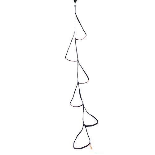 chlius Escalera de cuerda con 6 peldaños, de poliéster de alta resistencia con anillo de cinturón plano, cuerda de escalada de 200 cm para niños parque patios jugando