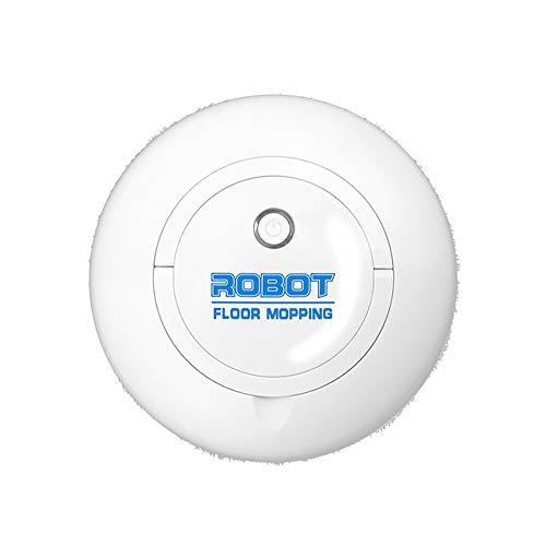 AWJ Schlank Staubsauger Roboter, intelligenter Wischautomat USB Household reinigt harte Böden bis mittelflorige Teppiche für harte Böden, Leiser,Schwarz
