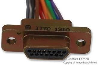 ITT CANNON MDM-15PH003B MICRO-D CONNECTOR, PLUG, 15POS, WIRE LEADS