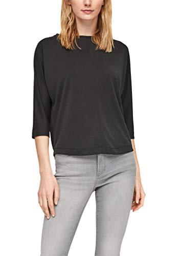 s.Oliver Damen 120.10.102.12.130.2061040 T-Shirt, black, 46