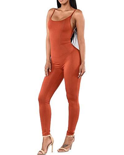 Mujer Camisola Mono Deportivo Ajustado sin Mangas Body Jumpsuit