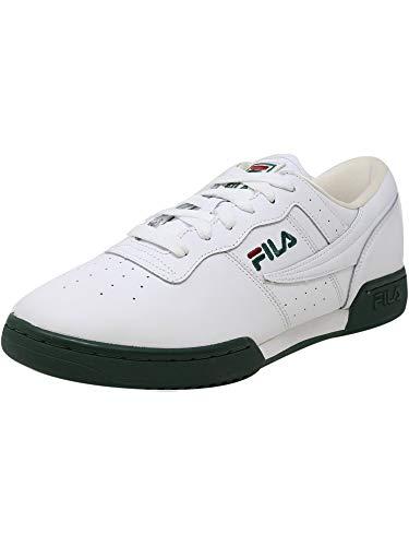 Fila Mens Original Fitness Leather Trainer Casual Shoes White 12 Medium (D)