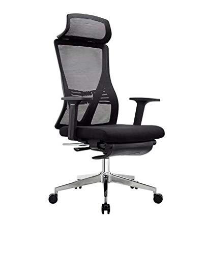 AIYIFU Silla de Oficina,Cómoda Silla de Escritorio para Conferencias, Gerente Ejecutivo para Estación de Trabajo de Oficina en Casa,Electroplating Chair Feet