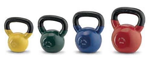 COR SPORT Kettlebell Pesi Allenamento Workout Gym Cardio Fitness per Palestra Potenziamento Muscolare (16kg, Blu)