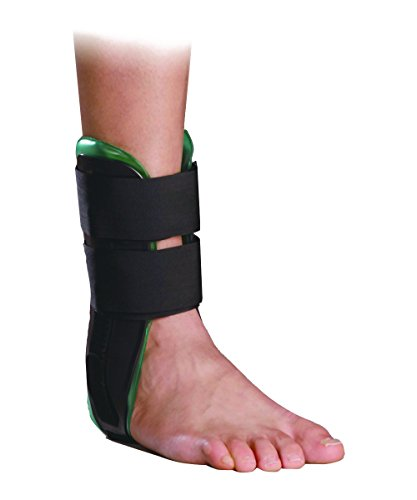 Orthomen Air Gel Ankle Brace - Stirrup Ankle Splint - Adjustable Rigid Stabilizer for Sprains, Strains, Post-Op Cast Support and Injury Protection