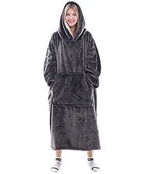 professional Waitu wearable blanket sweatshirts for women and men, super warm and cozy big blanket hoodies …