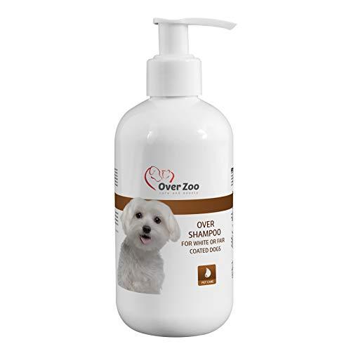Over-Zoo Dogs Premium - Champú Abrillantador para Perros de Pelo Claro (250 ml) - Champú Canino de PH Neutro para Perros de Pelaje Blanco y Rubio