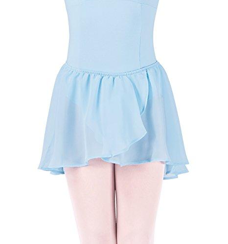 Kinder Ballett Wickelrock mit Gummizug PASTEL BLUE Gr. 8-10