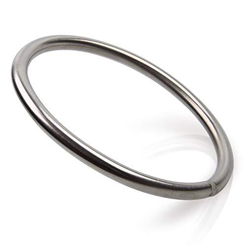 O-Ringe Edelstahl Rundringe, Marine Grade Geschweißt Edelstahl Polierte Ring Marine Hardware Hochfeste O-Ringe für die Bootsausrüstung Jagd Angeln Reisen