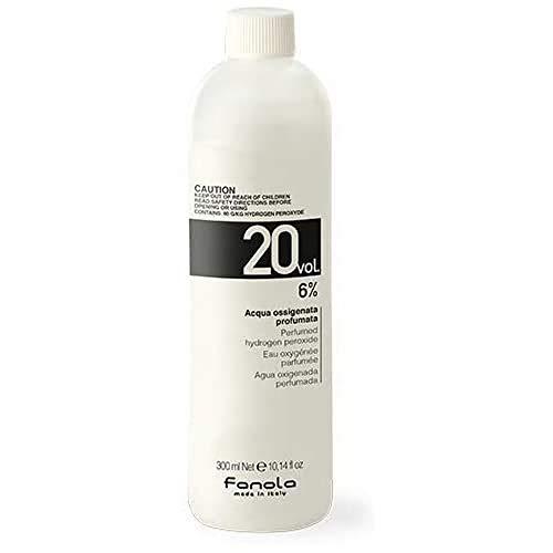 Fanola Oxigenada 20 VOL 6% 300 mL - Agua oxigenada perfumada aroma plátano - Tinte cabello pelo - PROFESIONAL