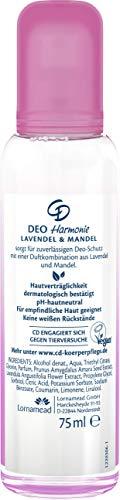 """Lornamead GmbH Cd deo zerstäuber """"harmonie"""" deodorant ohne aluminiumsalze zuverlässiger deo-schutz für 24 h duft nach lavendel & mandel für empfindliche haut geeignet vegan 75 ml"""