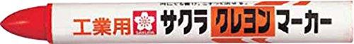 サクラ クレヨンマーカー 赤 GHY19R (10本入り)