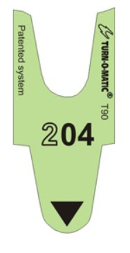 turn-o-matic T90standard à 3chiffres Tickets–Vert–24000Tickets