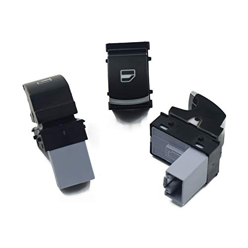 YINLONG Conjunto de interruptores de la Ventana del Interruptor de la luz Delantera del Espejo Fit para VW Golf MK5 6 Jetta MK5 Passat B6 B7 Tiguan 5nd 959 565a 5nd 959 857 5nd941431b