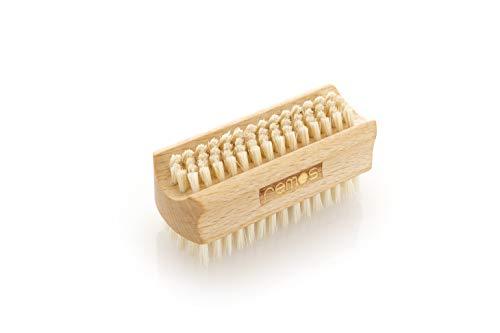 REMOS Brosse à main et ongles avec poils naturels en bois hêtre - deux côtés