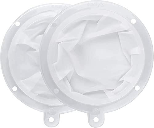 CYSJ 2 Piezas Filtro Compatible para Embudo de Cocina 5 Pulgadas / 13cm y 200+400 filtros de Malla Jam para la Transferencia de para Líquido, Jugo, Café, Té con Leche