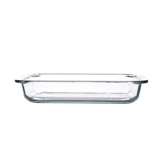 SMC Platos Plato de Ensalada de Queso de Vidrio binaural Simple y Transparente for el hogar Plato de merienda de Frutas Grandes (tamaño : 35.7x14.9cm)