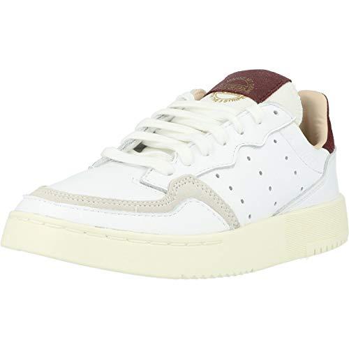 adidas Originals Supercourt W Blanco/Rojo (White/Maroon) Cuero 38⅔ EU