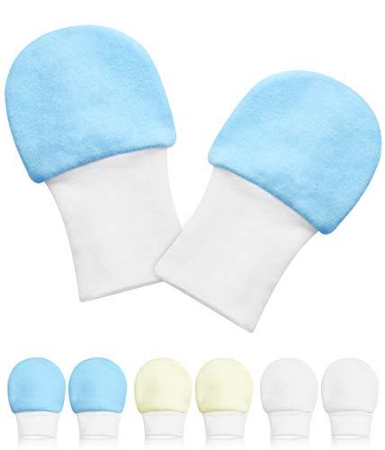 One enjoy 6 Paare Baby Handschuhe, Baby Neugeborene Handschuhe Babyhandschuhe Keine Kratzhandschuhe für 0-6 Monate Jungen Mädchen