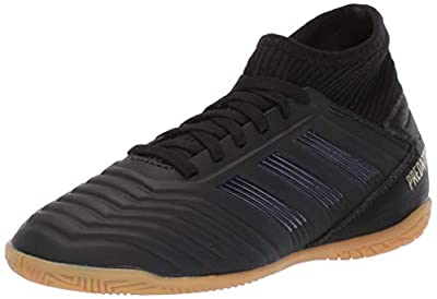 adidas Unisex Predator 19.3 Indoor Soccer Shoe, Black/Gold Metallic, 4.5 M US Big Kid