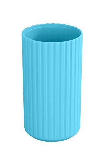 Allstar Zahnputzbecher Minas Blau - Zahnbürstenhalter für Zahnbürste und Zahnpasta, Polypropylen, 7 x 12 x 7 cm, Blau