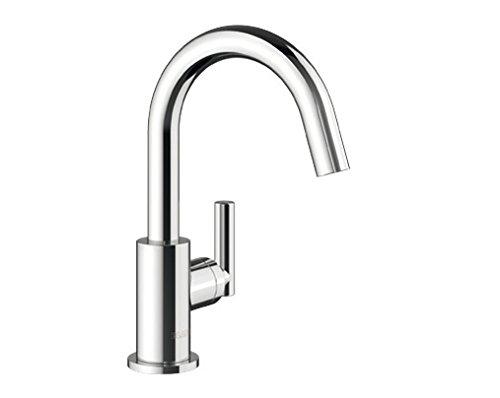 Blanco BARO-WT, Kaltwasser-Waschtischarmatur für Badezimmer, Wasserhahn für Bad-Waschbecken, Oberfläche chrom - mit Push-Open-Ablaufgarnitur