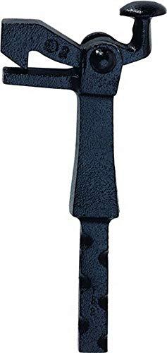 Torhalter | Torfeststeller | Bodenmontage | Größe 2 | Temperguss schwarz lackiert