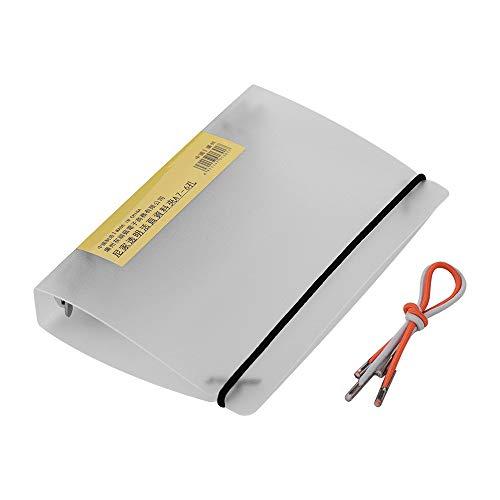 Aibecy ringmap, ringmap, PP-afdekking, doorzichtig, loose-leaf binder, map, protector, ringen, clip met elastieken, riemen, voor kantoor, school en thuisbenodigdheden A7-6 Löcher