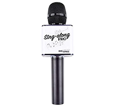 Sing-Along PRO Portable Bluetooth Karaoke Microphone and Bluetooth Stereo Speaker - All-in-one - Perfect for Birthday or Home Party - All Smartphone
