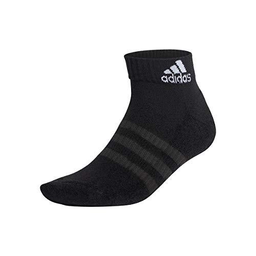 adidas Cush ANK 6PP Socks, Unisex Adulto, Top:Black/Black/Black/Black Bottom:Black/Black, S