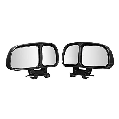 SHOUNAO 2PCS Ajustable Ajustable Expandir Gran Angular Ciego Ciego Vista Trasera Espejos (Color : Black)