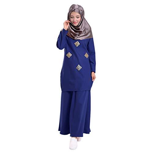 Gyratedream Tweedelige Jurken voor Vrouwen Moslim Islamitische Dubai Zuidoost-Azië Abaya Jurk Suit Herfst Dames Top en Jurk Sets