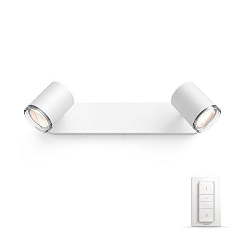 Philips Hue White Ambiance ADORE Spot barre tube 2x5.5W salle de bain - Blanc (télécommande incluse)