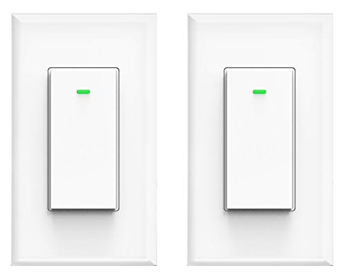 Smart Switch, Compatible with Alexa and Google Home, IFTTT, No hub Required, Timing Synchronization, Suit for 1/2/3/4 Group Type Switch Box Micmi, Smart light switch 2pack