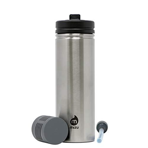 Mizu Bouteille de filtration d'eau M9 Adventure en acier inoxydable, unisexe, taille unique