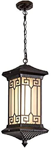 MLL Ancient Rome European Pendant Decken-Hängelampe, wasserdichte industrielle antike Außenbeleuchtung im Freien, Eingangsleuchte im mittelalterlichen Innenhof, LED-Schraubzwiebel-Kronleuchter Super