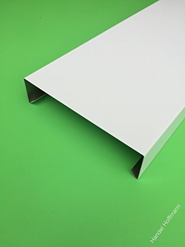 Mauerabdeckung 2 m lang Aluminium farbig 0,8 mm (klein, Weiß RAL 9010)