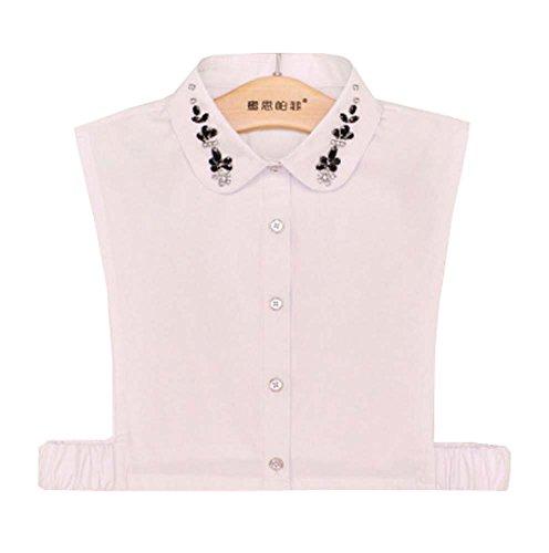Dragon Troops Weißes Hemd Falsches Halsband Klassisches weißes Modehemd Falsches Halsband, A5