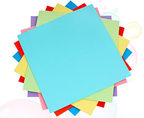 CHUANGOU Papel de Origami, Papel Kraft de Colores, Origami de Colores para Navidad Origami Proyectos de Arte y Manualidades de Bricolaje 100 Hojas de 10 Colores. (13 * 13cm)